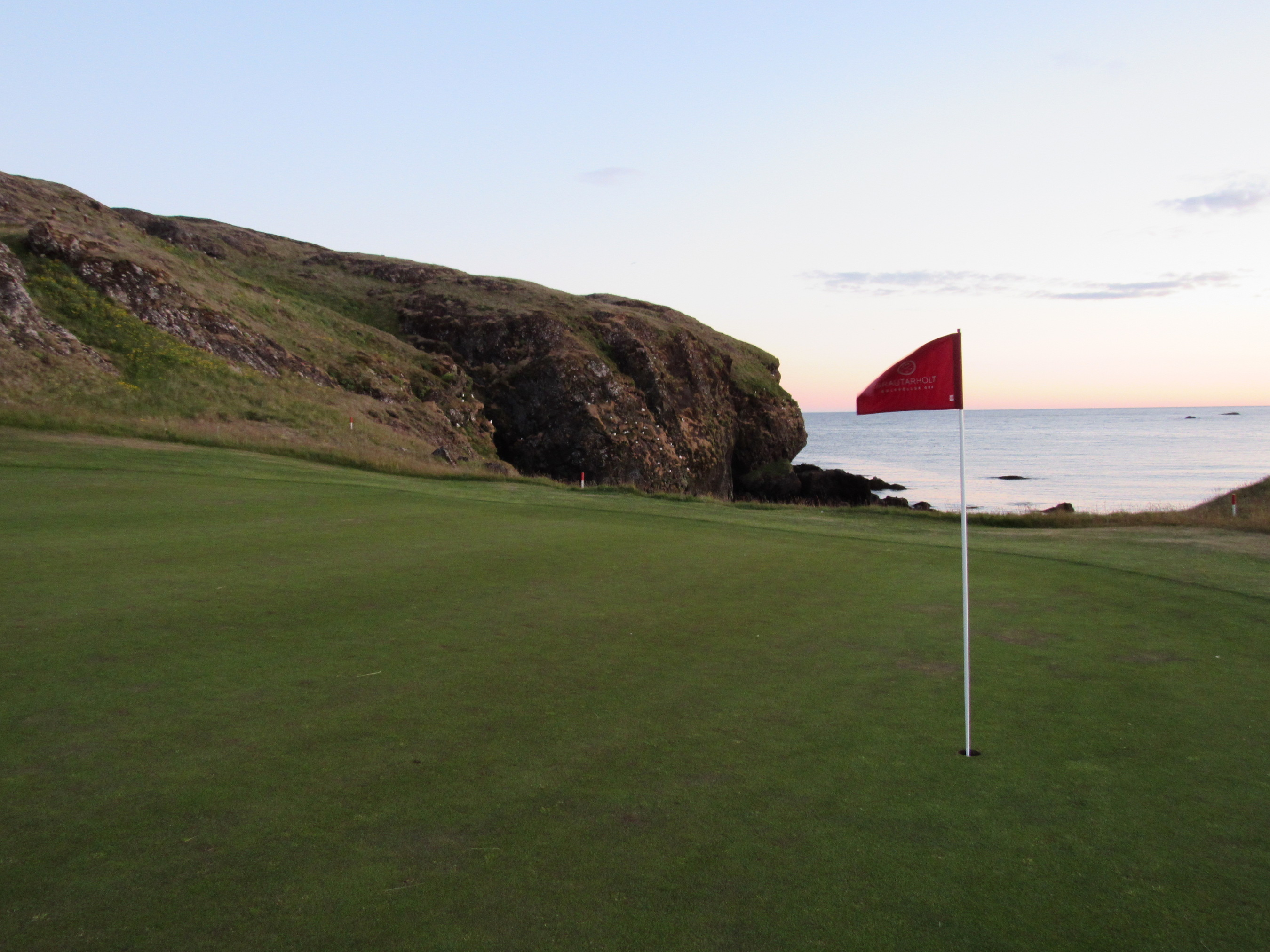 Golf in the Midnight Sun at Iceland's Brautarholt Golf Course